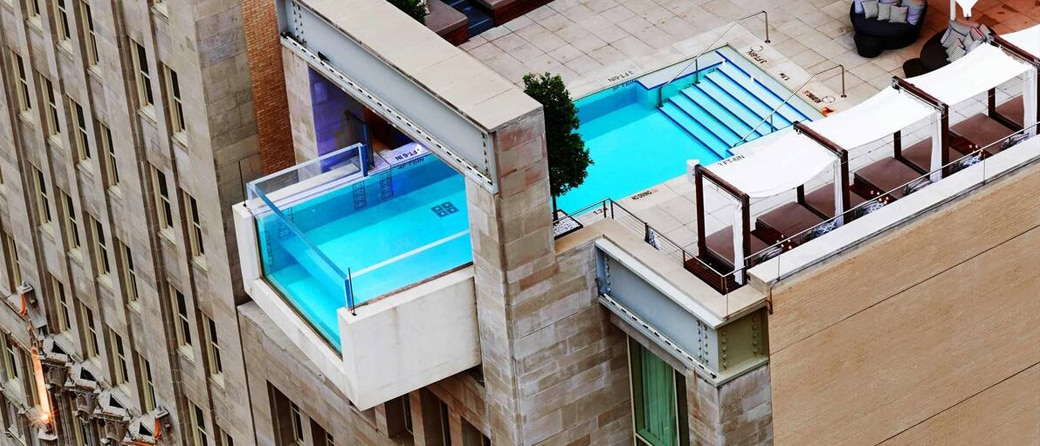 Swimming pool at Joule Hotel