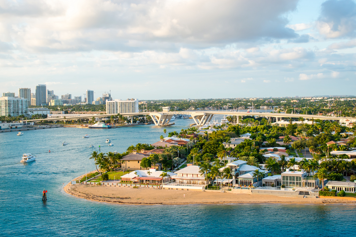 Aerial view of Port Everglades Ft Lauderdale